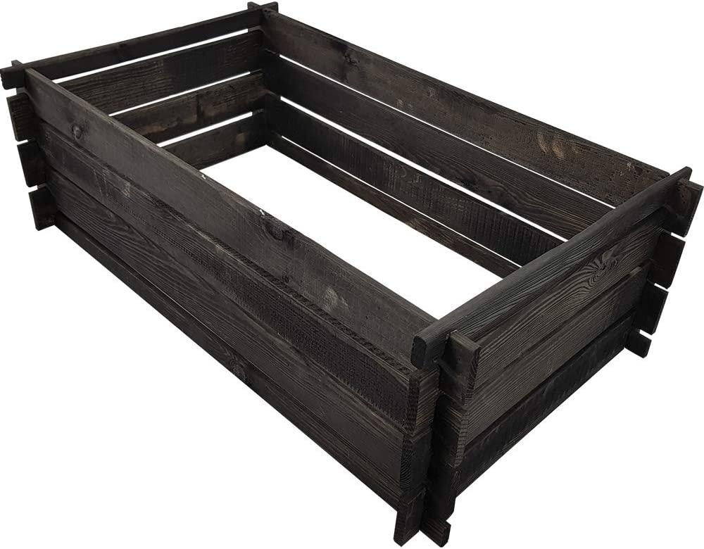 Composteur en bois couleur anthracite de proheim