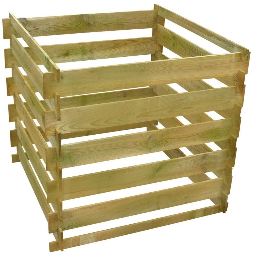 Composteur de jardin en bois de Festnight