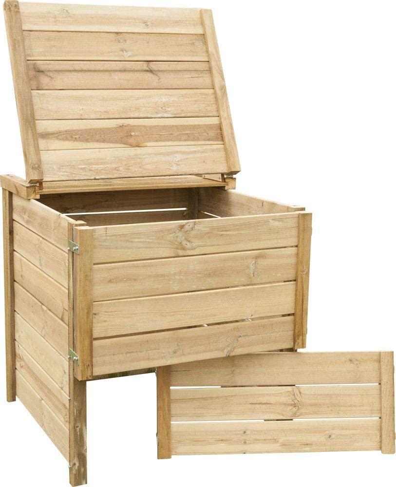 Composteur de jardin en bois autoclave de la marque Jardindeco