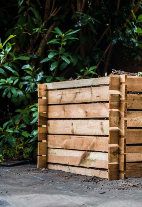 Lieu de stockage pour un composteur
