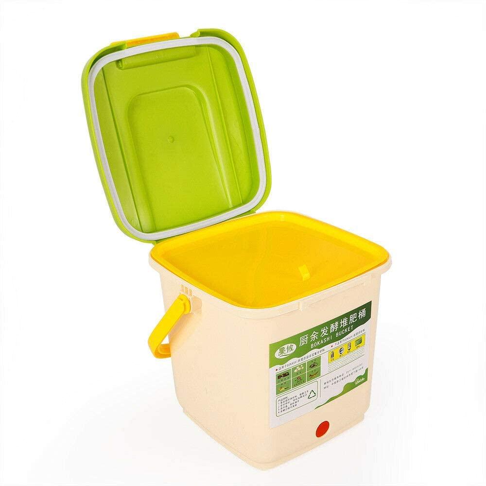 Composteur 9L Cuisine avec couvercle Cuisine Compost Bin pour le potager