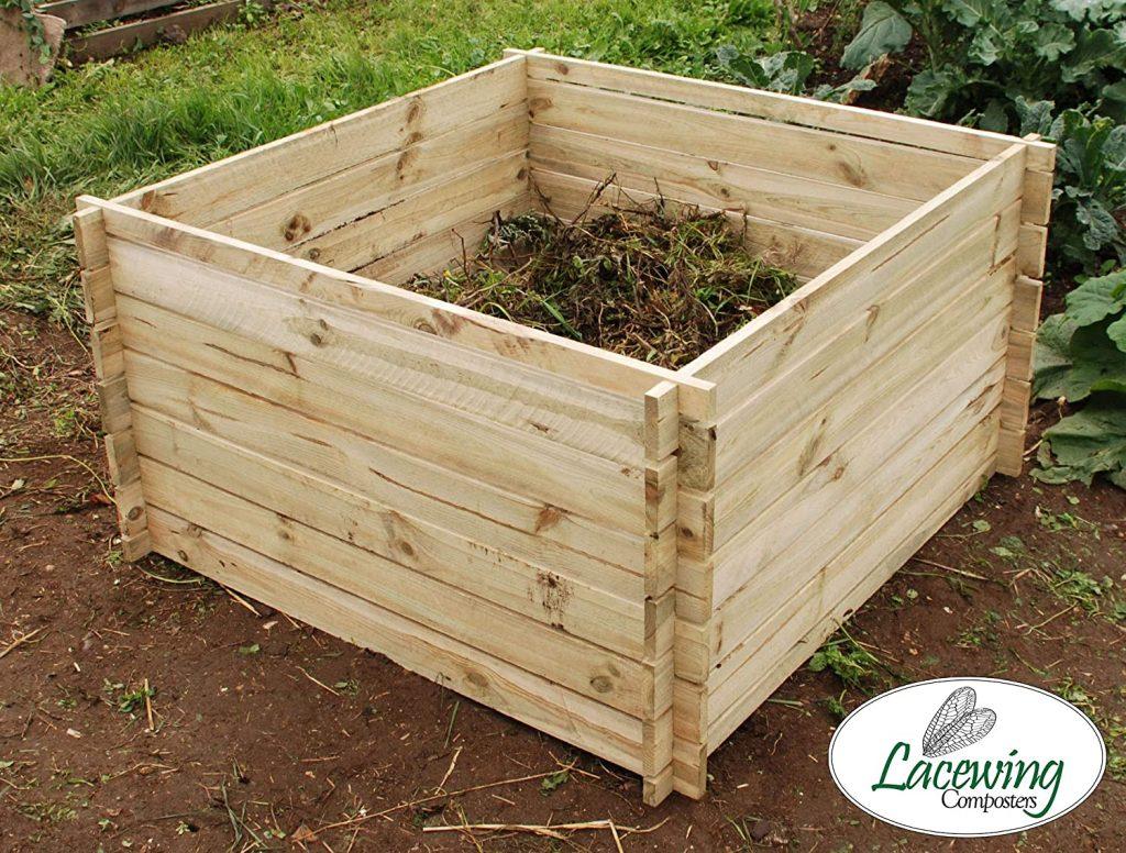 Lacewing Composteur en Bois Grande Taille - 893 litres