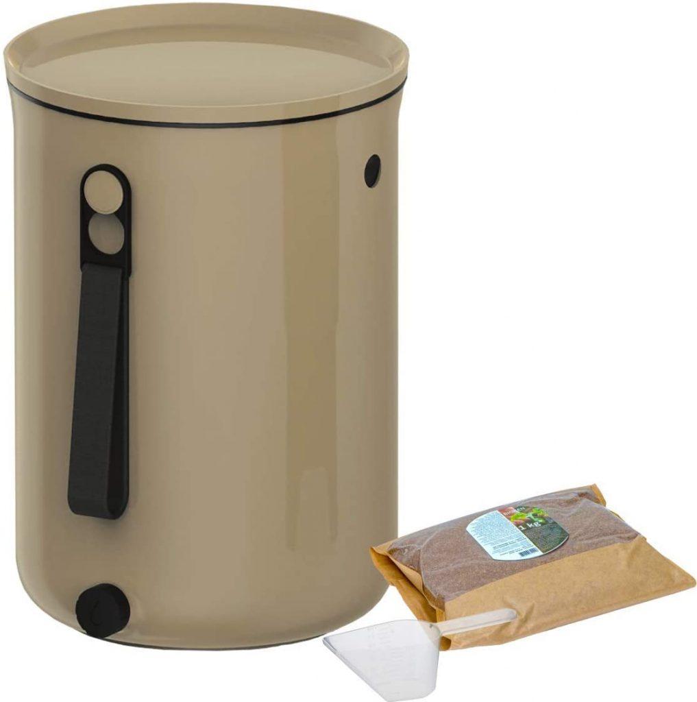 Skaza Bokashi Organko 2 (9.6 L) | Primé Composteur de Cuisine en Plastique Recyclé